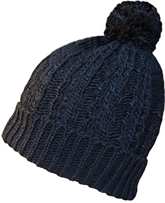 861f5b1b58d Womens Oversize Pom Pom Beanie Hat (Black)  Amazon.co.uk  Clothing