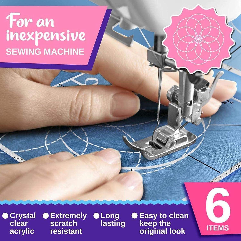 Quilting Frames Free Motion Template Quilting Righelli Nuovo Home macchina da cucire Righello modello Set 6PCS Quilting Template modello Quilting Acrilico