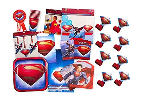 Superman Party Supplies Ultimate Set Birthday Favors Decorations Cape