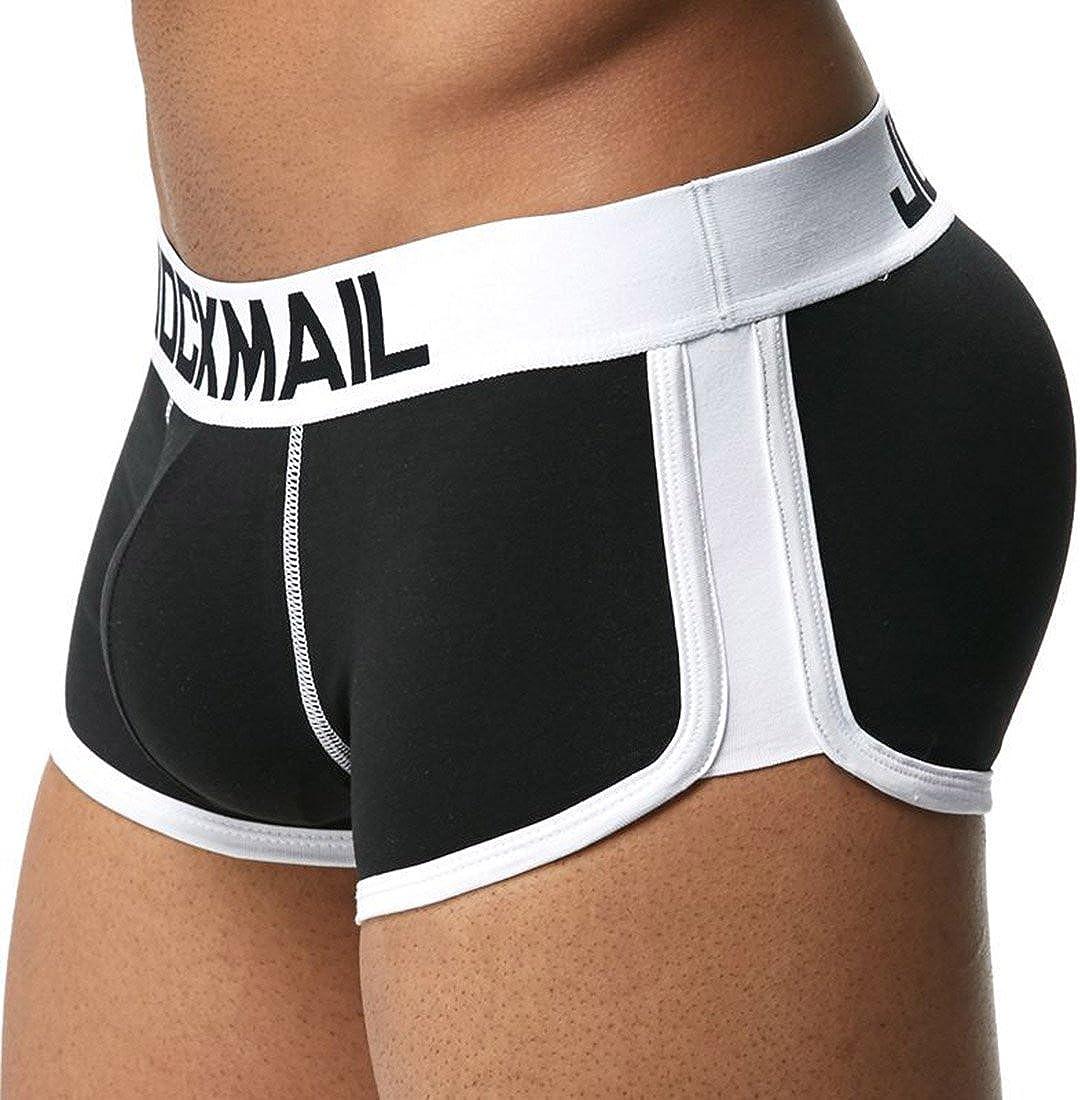 Freahap Men Underwear Bóxers Ajustado para Hombre Calzoncillo Ropa Interior de Algodón Diseño U con Rellenos Delanteras y Traseras