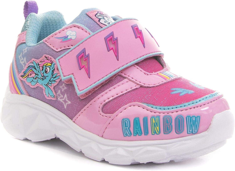 My Little Pony Girls Toddler Rainbow Dash Pink Light Up Glitter Sneaker Size