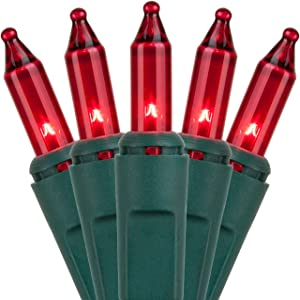 Home Accents Holiday 100 Count Incandescent Red Mini Light Set