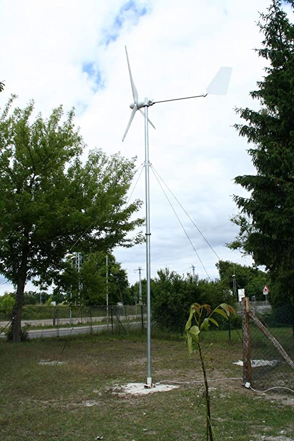 Windkraftanlage 1000 W, 1kW Komplett Set - Windturbine WKA 1 ...