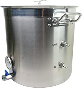 Bruman_Boil-Chill Pot 9 gallon Electric Stainless Steel Home Brew Kettle Pot With Wort Chiller