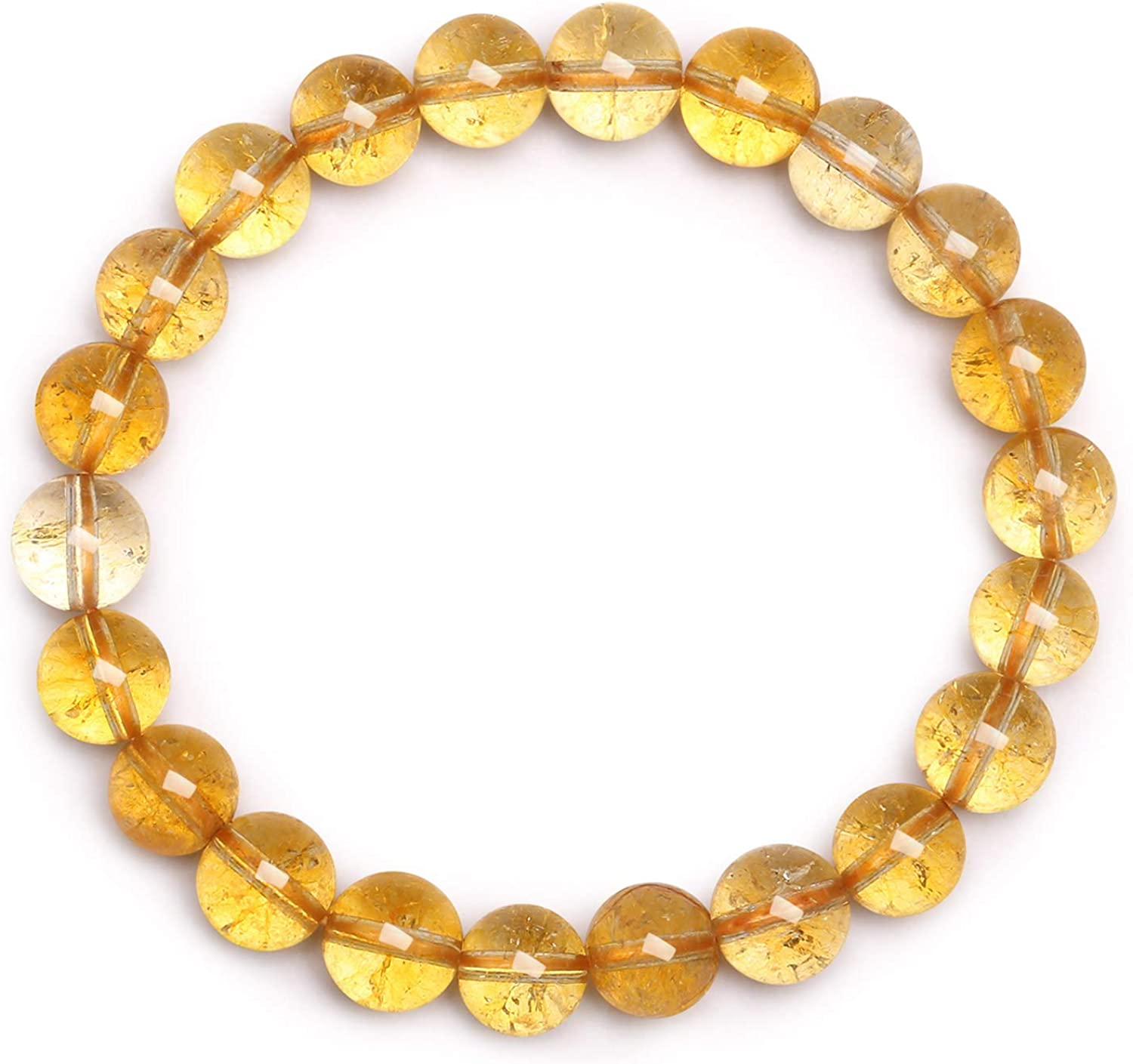 New Handmade 12 mm NATURAL YELLOW JADE RONDE pierres précieuses perles Stretch Bracelet