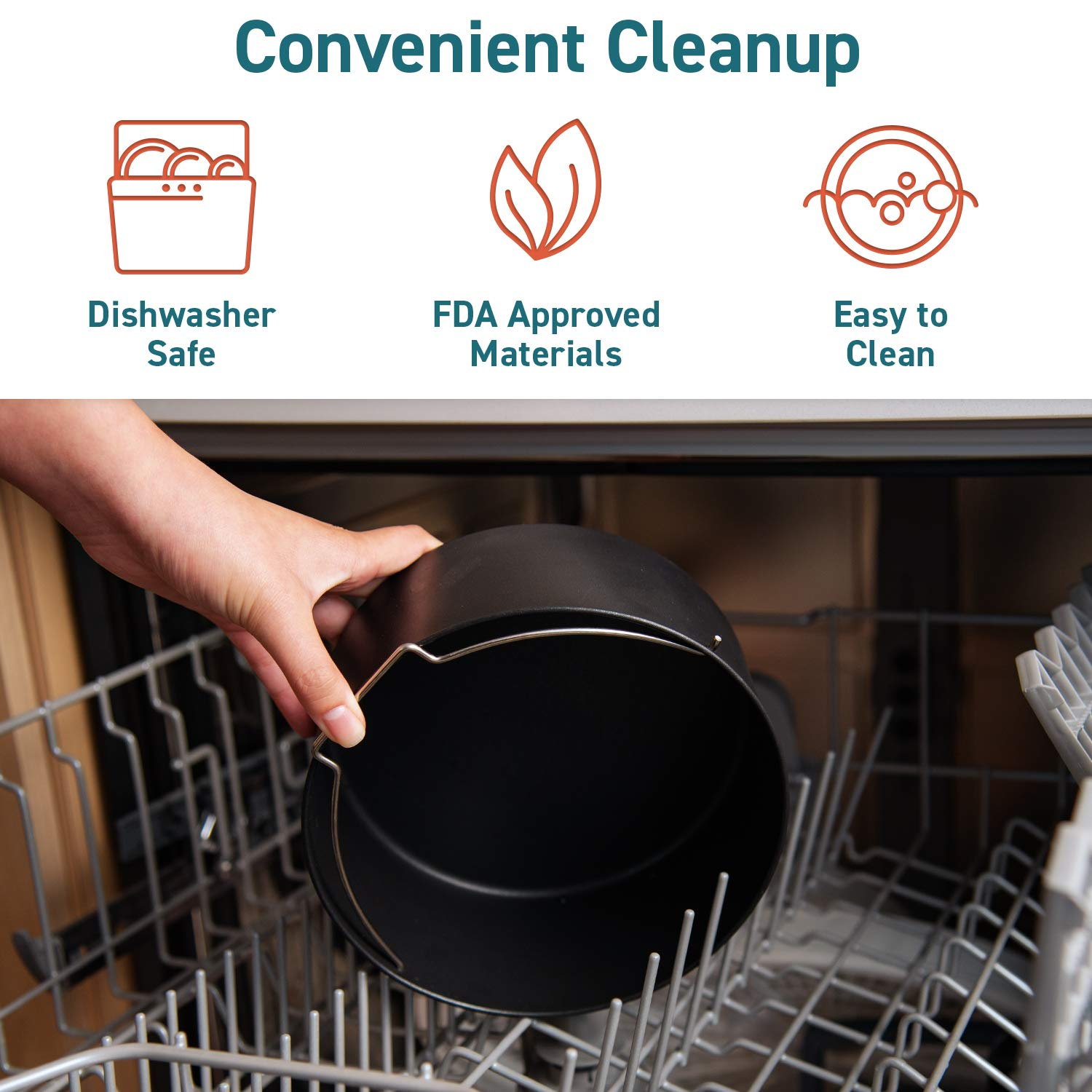 COSORI Air Fryer Accessories XL (C158-6AC), Set of 6 Fit all 5.3Qt, 5.8Qt, 6Qt Air Fryer, FDA Compliant, BPA Free, Dishwasher Safe, Nonstick Coating, 2-Year Warranty by COSORI (Image #2)