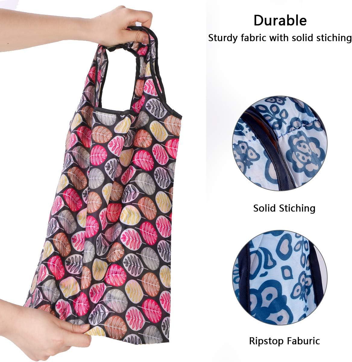 59cm*38cm Umweltfreundliche Einkaufstaschen 10 St/ücke Wiederverwendbare Einkaufstasche Faltbare Einkaufstasche Faltbar Einkaufst/üten Tragbare Einkaufstasche Langlebig,Wasserdicht,Waschmaschinenfest