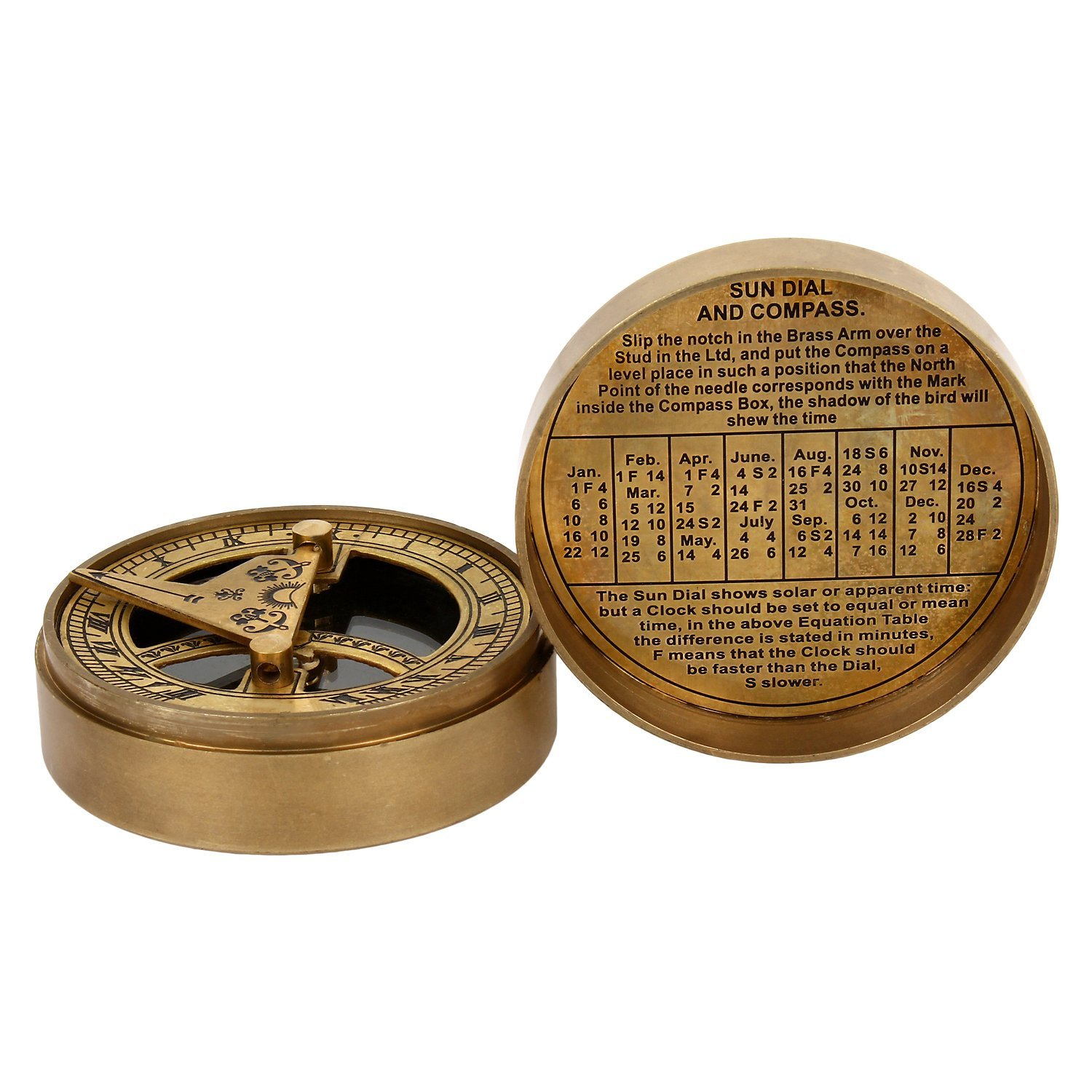 Artshai The Mary Rose Sundial Compass made from brass Artshai2327