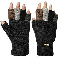 5d30b60c835 Knitted Glove Warm Wool Sentry Mitten Winter Convertible Glove with Mitten  Cover
