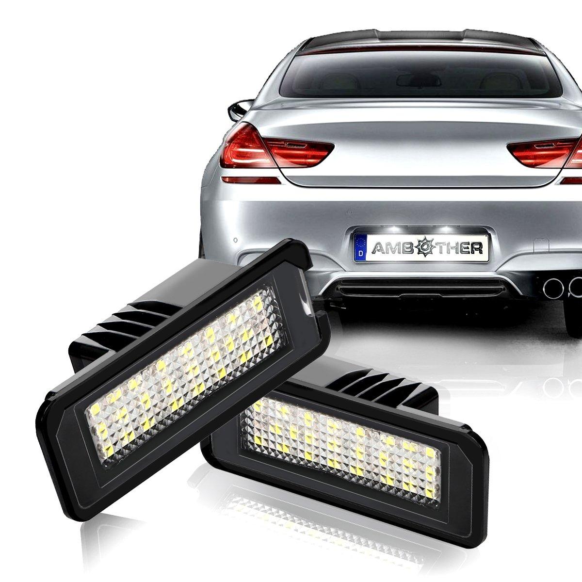 Ambother, iluminación LED para matrícula, Golf 4/5/6, Passat, Polo: Amazon.es: Coche y moto