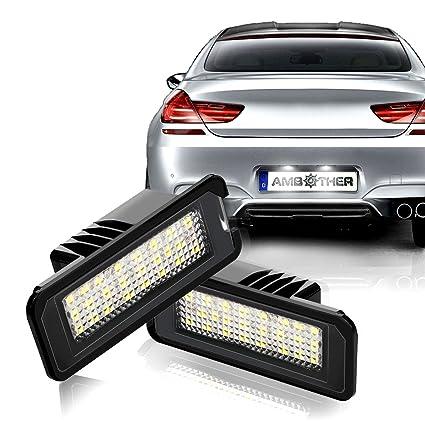 Ambother, iluminación LED para matrícula, Golf 4/5/6, Passat, Polo ...