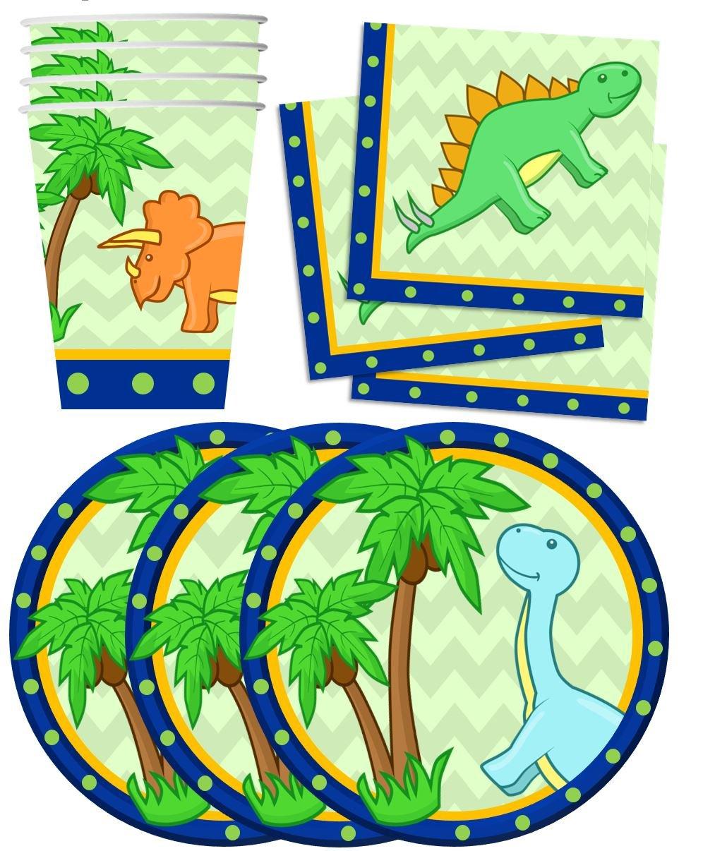 Amazoncom Little Dino Dinosaur Birthday Party Supplies Set Plates