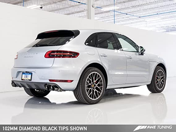Amazon.com: AWE Tuning 3015-42068 Porsche Macan Touring Edition Exhaust System (Chrome Silver 102mm Tips): Automotive
