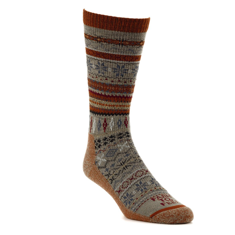 competitive price c5619 3e947 Amazon.com  Farm to Feet Women s Hamilton Fair Isle Crew Socks  Clothing