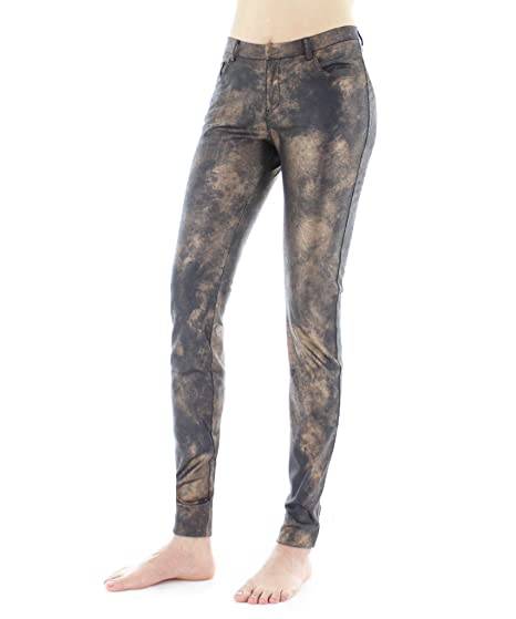 Legmogu E Statue Mottled Bronze Legging Steampunk Fashion Leggings