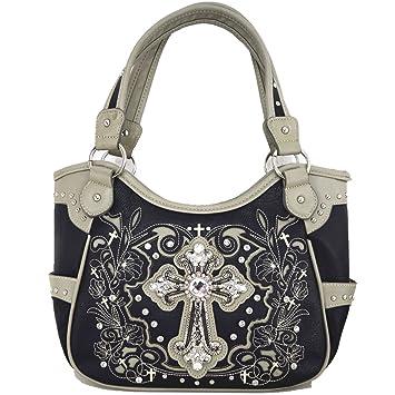 George Jimmy Womens [Sisterhood] PU Leather Handbag Fashion Elegant Tote Bag Black
