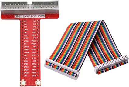 T GPIO Breakout Expansion Board+40Pin Rainbow Cable DIY  Raspberry Pi B 3 2 US