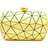 Tooba Handicraft Party Wear Beautiful Box Clutch Bag Purse For Bridal, Casual, Party, Wedding