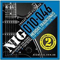 Encordoamento Para Guitarra Nig N64 Com Dois Jogos 0.10