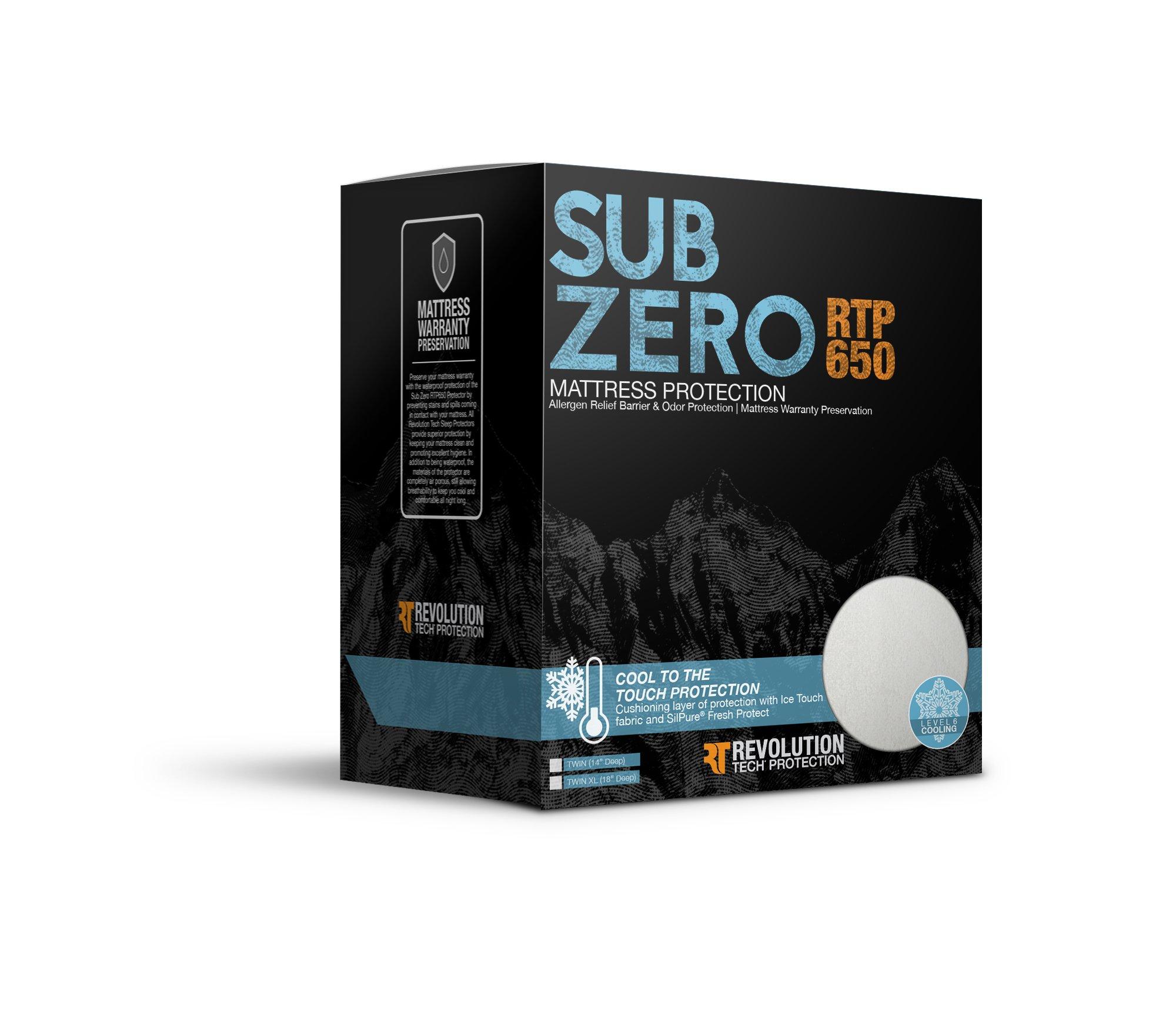 Glideaway Sub Zero Temperature Regulating Premium Hypoallergenic Waterproof Mattress Protector - Twin XL Size