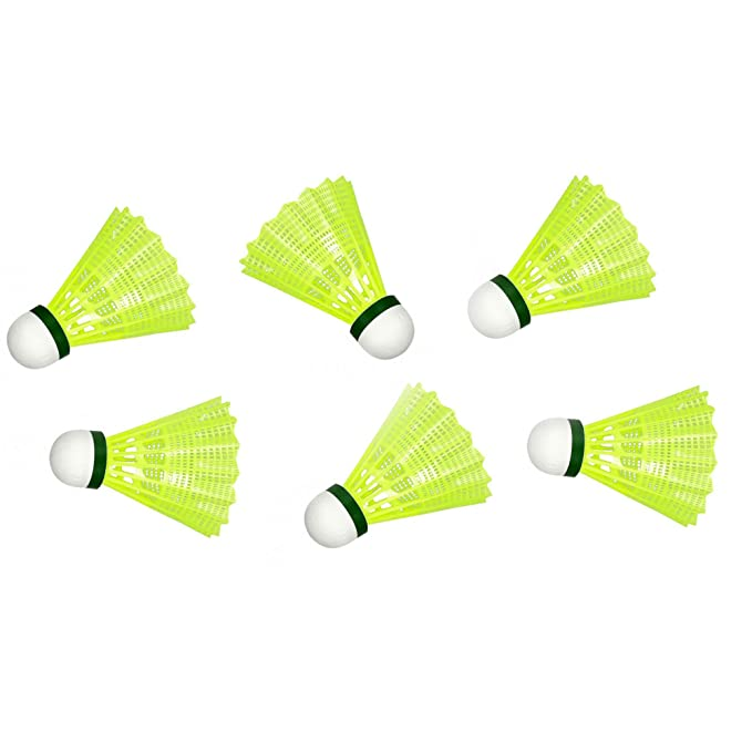 S.A.S Sport Cosco Pro Plastic Shuttlecock  Yellow    Pack of 6