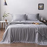 Oasis Fine Linens Island Bamboo Collection (Queen, Charcoal Stripe)
