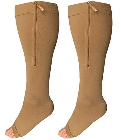 f825d8dd2 Amazon.com  Runee Wide Calf Zipper Compression Socks