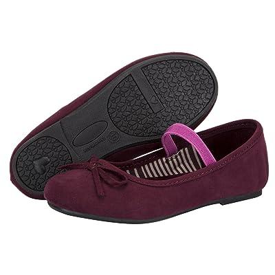 APELPES Toddler Little Girls Dress Ballet Mary Jane Bow Flat Shoes