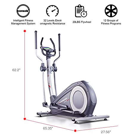 HARISON Exercise Bike Stationary Indoor Cycling Bike with iPad Amount for Girls Elliptical Exercise Bike