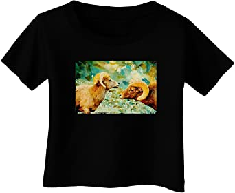TooLoud Bighorn Ram Watercolor Toddler T-Shirt