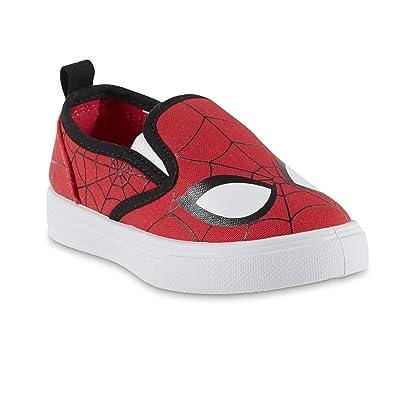 636f099f146e BBC International Marvel Toddler Boys  Spider-Man Red Black Slip-On Sneaker