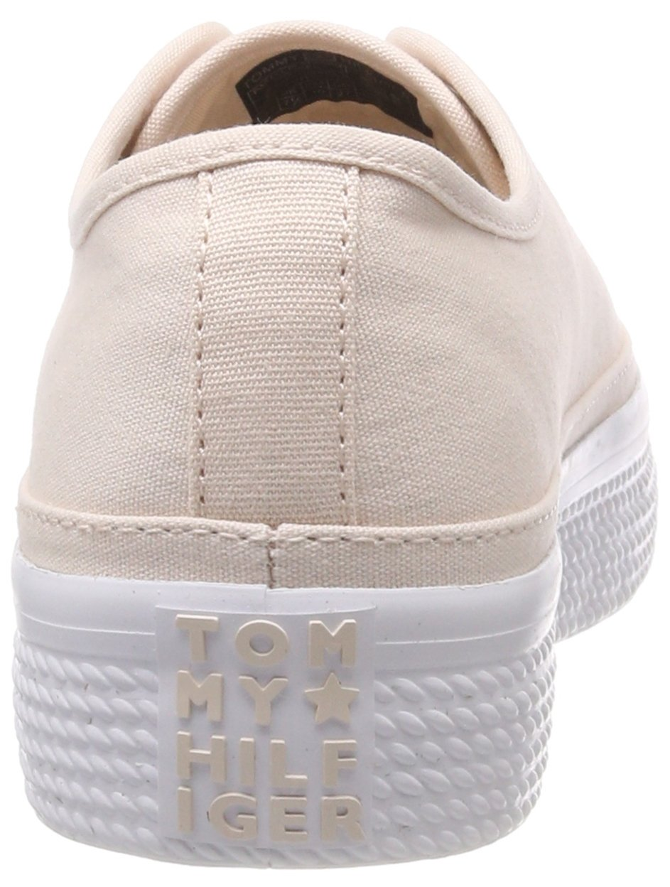 Tommy Hilfiger Damen Pastel Peony Flatform Sneaker, Silber (Silver Peony Pastel 642) bcd248