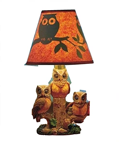 Woodland owl table lamp with silhouette shade amazon woodland owl table lamp with silhouette shade aloadofball Choice Image