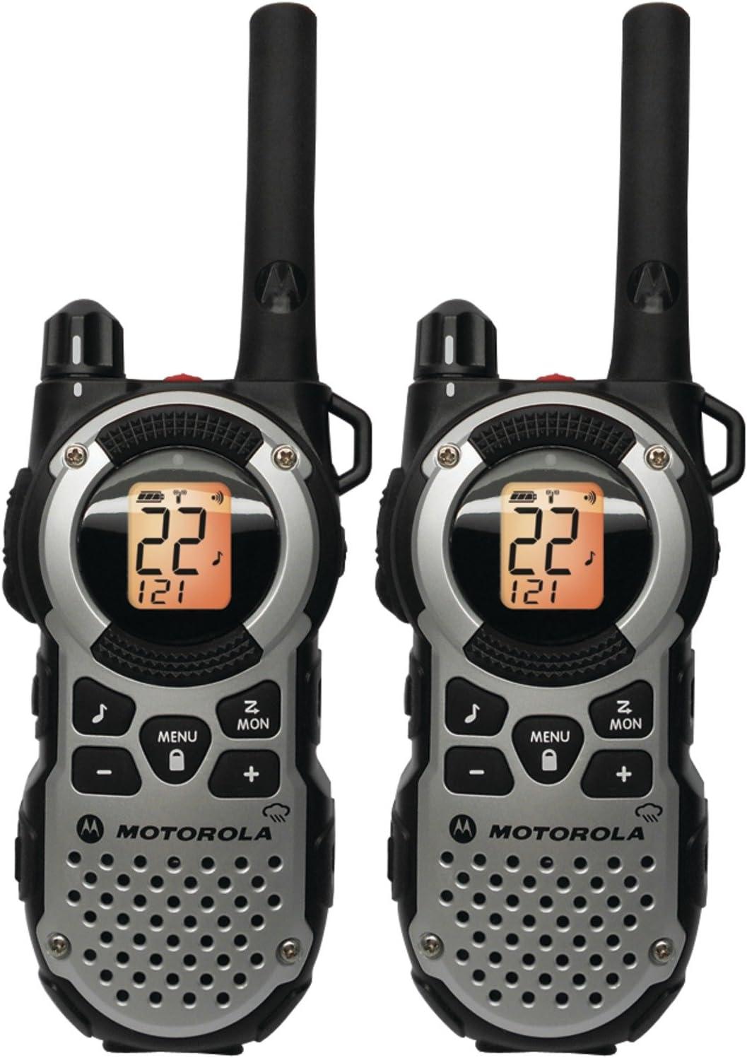 Silver 35 Mile Radio Pack Motorola Consumer Radios MT352R FRS Weatherproof Two-Way