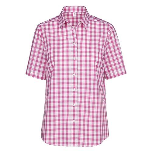 SEIDENSTICKER Damen Bluse Schwarze Rose 1/2-Arm Bügelleicht Streifen Fashion-Bluse Ohne Manschette