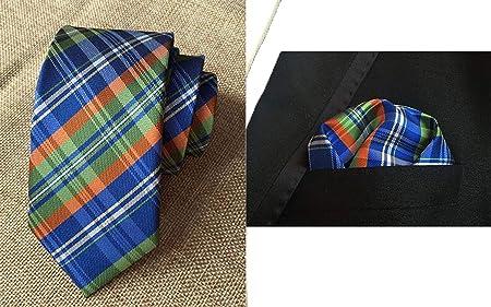 JEAQW Home Corbata de Tela Escocesa para Hombre Corbata de ...