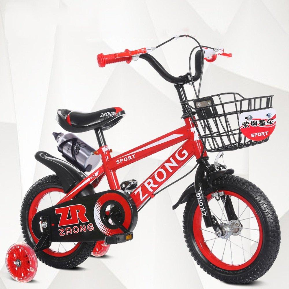 HAIZHEN マウンテンバイク 子供用自転車 青赤黄色 サイズ:12インチ、14インチ、16インチ、18インチ アウトドアアウト 新生児 B07CCJSM7L 16 inch|赤 赤 16 inch