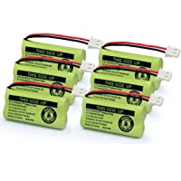 GEILIENERGY BT183342 BT283342 BT166342 BT266342 BT162342 BT262342 Battery Compatible for VTech CS6114 CS6419 CS6719 AT&T EL52300 CL80113 CS6114 CS6419 CS6719 EL52300 Cordless Phone (Pack of 6)