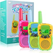 Walkie Talkies for Kids, 22 Channels 2 Way Radio Toy for 3-12 Year Old Boys Girls, 3 Miles Long Range with Flashlight and LC