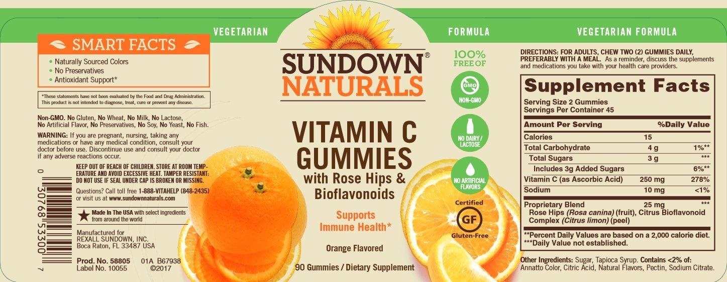 La vitamina C Gomitas, sin gluten, aroma de naranja - Rexall Sundown Naturals: Amazon.es: Salud y cuidado personal