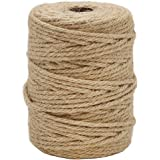 Vivifying 165 Feet 4mm 4 Ply Jute Twine, Natural Biodegradable Strong Jute Rope for Garden, Gifts, Crafts (Brown)