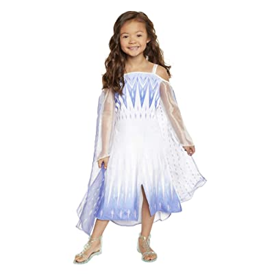 Frozen 2 Elsa Epilogue Dress for Girls, New Movie Princess Dress Up Costume for Halloween Christmas Party, Outfit Fits Sizes 4-6X - for Girls Ages 3, 4, 5 & 6: Toys & Games