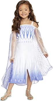 Frozen 2 Elsa Epilogue Dress for Girls, New Movie Princess Dress Up Costume for Halloween Christmas Party, Outfit Fits Sizes
