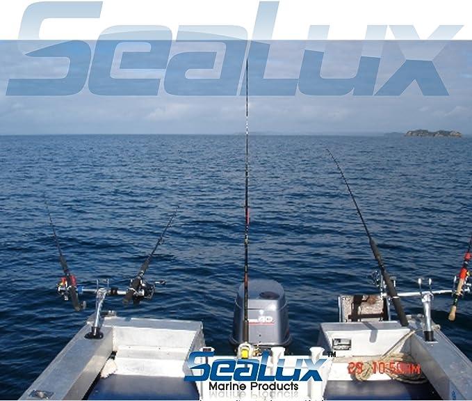 3x Schraub Bootsrutenhalter Boat Rod Holder Trolling Schlepp Angelrutenhalter