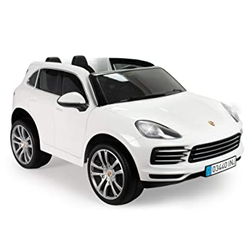INJUSA Porsche Cayenne S Licenciado Color Blanco de 12V ...