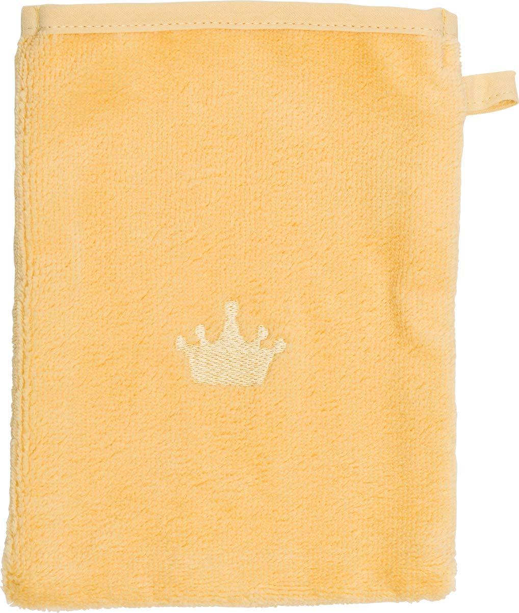 Waschlappen M/ädchen und Junge Farbe hellgelb Motiv KRONE Waschhandschuh von Smithy