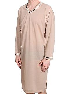 M L Xl Xxl Xxxl Schlafanzug Langarm Nachthemd Pyjama Herrennachthemd