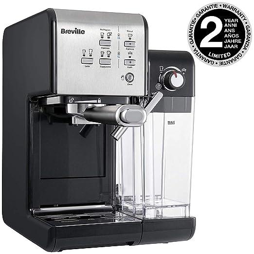 Breville vcf108 X 01 - Cafetera, Plata y Negro: Amazon.es: Hogar