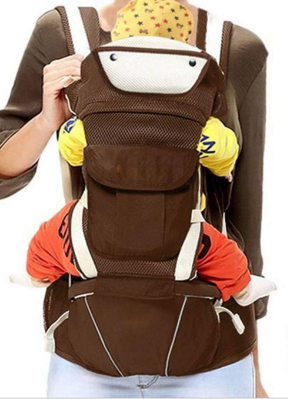 TUJHGF Strap Multifunktionale Frontklemme Atmungsaktiv Freshman Vier Jahreszeiten Babys Schultern Universal Artefakt Lendenwirbel,Braun