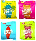 SmartSweets Fruity Gummy Bears, Sour Gummy Bears, Sweet Fish, Sour Buddies, Assortment Pack, Low Carb, Low Sugar, 7.2 oz…